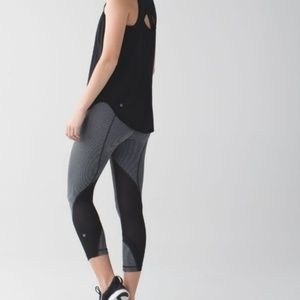 Lululemon Run Inspire Crop • Gray & Black